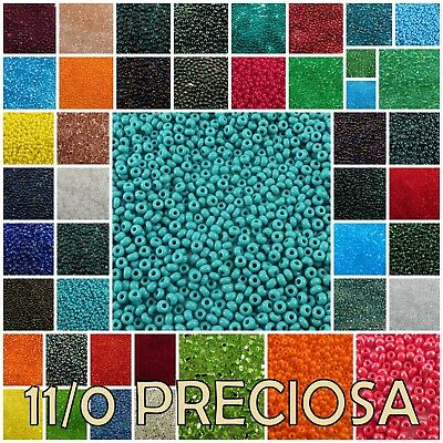 11/0 Preciosa Czech Round Loose Rocailles  Seed Beads 20 gram #50100-97090