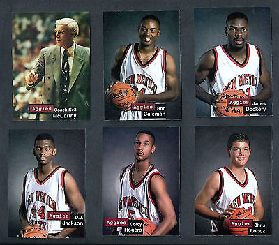 1993-94 NEW MEXICO STATE MENS BKB TEAM SET w/ NEIL McCARTHY