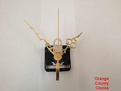 """Seiko Quartz Clock Movement Kit for Dials Up to 1/2"""" with 4 1/8"""" hands, -R-"""