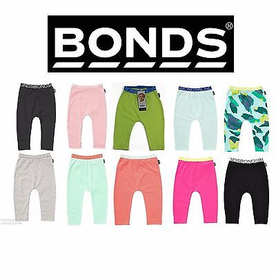 Bonds Baby Stretchies Leggings Pants Cotton Rich Toddler New Elastic + Free Bib