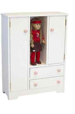 """American Girl 18""""Doll Sized Wardrobe Closet Amoire Amish Made Furniture NEW"""