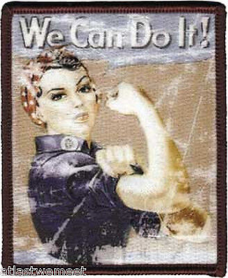 Rosie the Riveter We Can Do It!  Embroidered Patch Iron-On Applique Girl Power