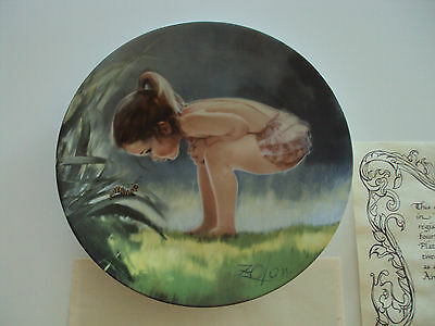"""Small Wonder"" Collector Plate 4th in Wonder of Childhood Series by Donald Zolan"