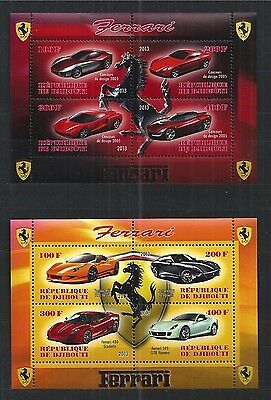 Djibouti 2013 Autos Cars Ferrari 2X Mini Sheet ** Mnh