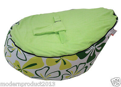 Freeship Canvas Green Baby infant Bean Bag Snuggle Bed Portable Seat NO Filling
