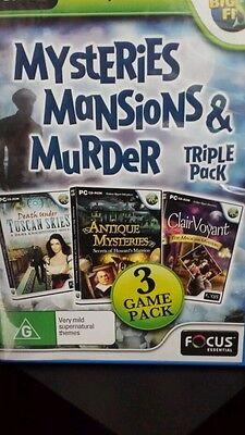 Mysteries Mansions & Murder 🕹️TRIPLE PACK PC GAME 🕹️ FREE POST