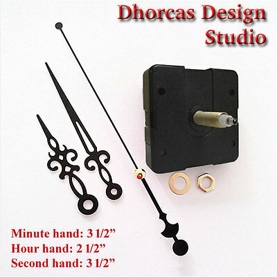 "(#07) Quartz Clock Movement 3/4"" threaded LONG SHAFT, quiet motor & 3.5"" hand"