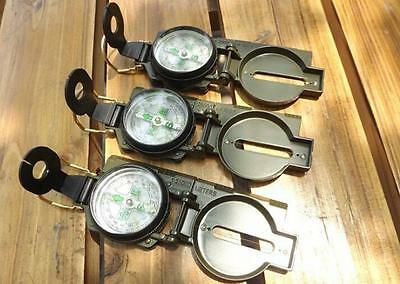New Lensatic Compass Camping Hiking Army Style Survival Marching Plastic HOUS