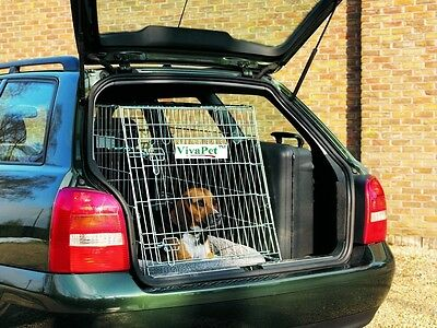 """30"""" Car Sloping Transport Travel Mobile Dog Puppy Cat Metal Cage Crate Carrier"""