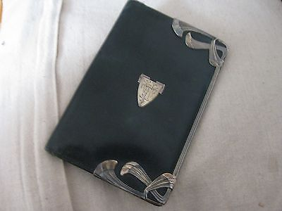 """Beatiful Leather and silver Art Nouveau Wallet 6"""" x 4"""""""