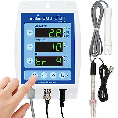 BlueLab Guardian Monitor pH Temp EC Conductivity Meter Hydroponic Blue Lab water