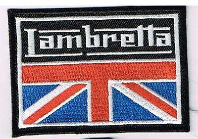 LAMBRETTA W/ UNION JACK FLAG EMBROIDERED PATCH italian italy scooter vespa ska