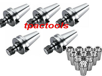 5Pc Bt40 Er16 Precision Collet Chuck And 10Pc Er16 Collets New