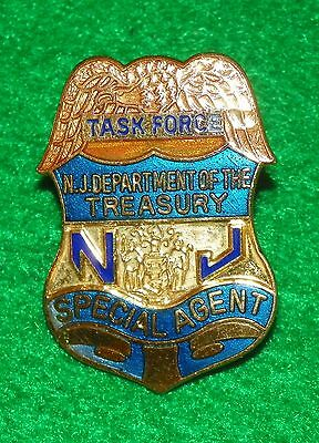 New Jersey Department of Treasury Special Agent Task Force Mini Courtesy Badge