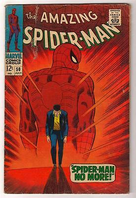 MARVEL Comics  VG SPIDERMAN SILVER age #50 1st KINGPIN 1967 AMAZING 4.0