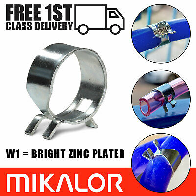Mikalor W1 Bzp Self Clamping Spring Clips Hose Clamps Silicone Pipe Fuel Air Gas