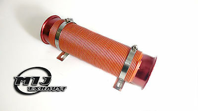 """3"""" Red Flexible Tube Cold Ram Air Feed Induction Pipe Intake Ducting Cones"""
