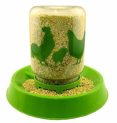 Lixit Chicken Feeder/ Waterer Green 64oz (for food or water)