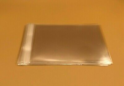100 Crystal Clear Self Adhesive Resealable Cello Opp Multi-Sized Bags