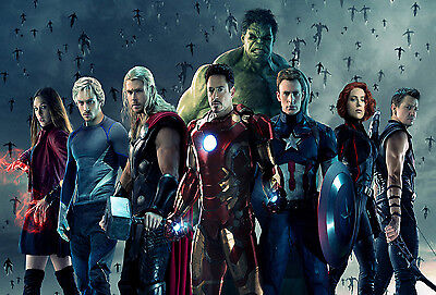 0281 The Avengers Assemble Marvel Iron Man Hulk  Poster A4 A3 Buy 2 Get 3Rd Free