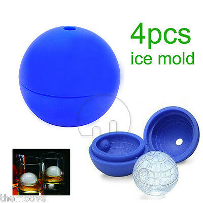 4x Star Wars Death Star Silicone Mold Ice Cube Chocolate Tray Ball AUS Stock