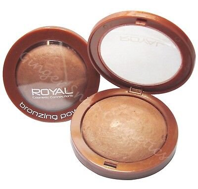 Royal BAKED BRONZER Bronzing Compact Pressed Powder Sunkissed Bronze Look NEW