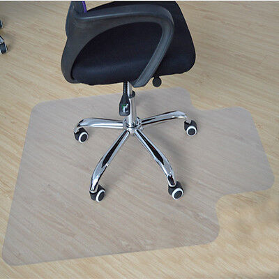 Lipped Office Home Chair Mat Floor Protector Frosted Durable PVC 90x120cm