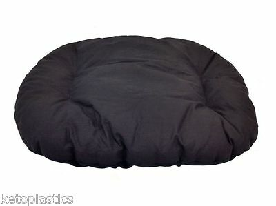Small Black Fleece Dog Cat Bed Cushion To Put In Bottom Of Basket Cats Pet Dogs