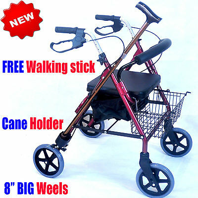 CA882 Caremax Foldable Aluminium Rollator Walker Walking Frame 8KG only