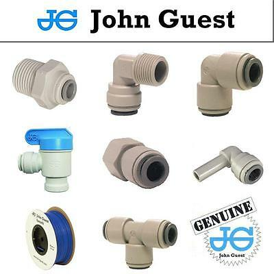"1/4"" John Guest Push Fit Pipe Fittings American Fridge RO Unit Blue Pipe Tube"