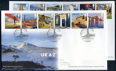 Great Britain 2011 A - Z of U.K. part 1 on first day cover (2014/12/01/#23)
