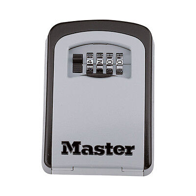 Master Lock Wall-Mounted Key Storage Safe Box, Set Your Own Combination #5401D