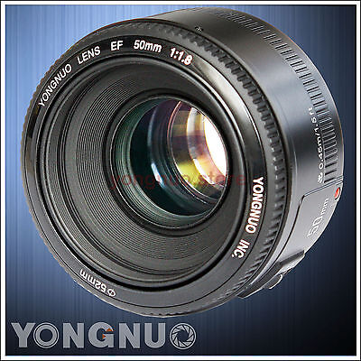 Yongnuo YN50mm 50mm F/1.8 AF/MF Standard Prime Lens for Canon EOS Rebel Camera
