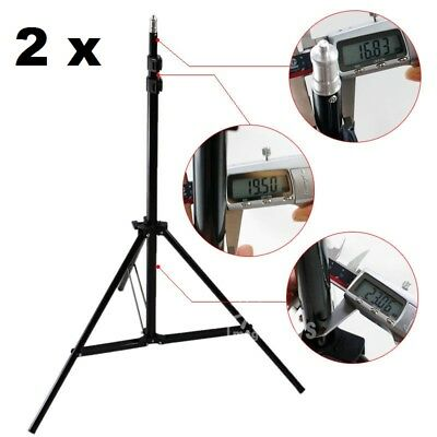 NEW 2x 7 ft Lighting Stand Photo Studio fully adjustable light stand with cases