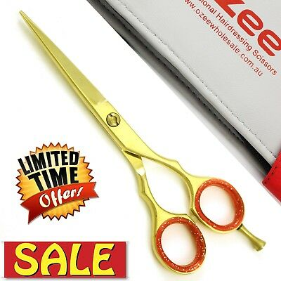 """5.5""""Barber Shears Hair Cutting Scissors Professional Hairdressing Shears + Case"""