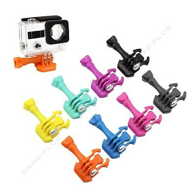 Colorful Buckle Basic Strap Mount Clips w/ Screw for GoPro Hero 1 2 3 3+ Camera