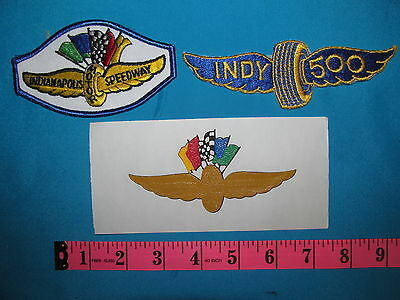 ***2 RARE INDY 500 INDIANAPOLIS RACING SPEEDWAY PATCH BADGE & 1 TRANSFER ***
