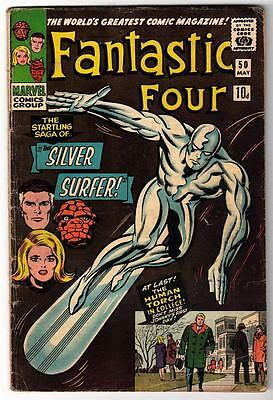 Marvel Comics VG+  FANTASTIC FOUR #50 Galactus Silver surfer pence