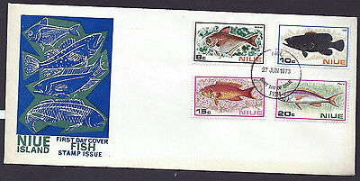 Niue 1973 Fish set on official unaddressed first day cover