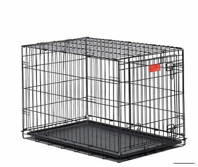 Midwest Life Stages Double-Door Folding Metal Dog Crate, 36 x 24 x 27 Inches