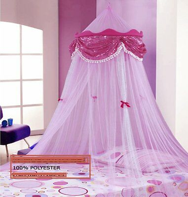 Pink Perfect Princess Bed Canopy Mosquito Net New Ship From The Usa