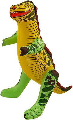 Inflatable Dinosaur 43cm Blow Up Beach Pool Ball Party T-REX Childrens Kids Toy