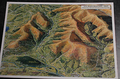 3D Aerial Panoramic A4 Fell Walking Map of Brecon Beacons No9 Unusual Gift Idea