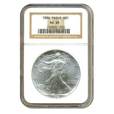 1994 $1 Silver American Eagle MS69 NGC
