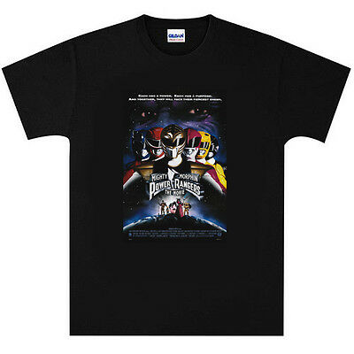 Power Rangers T Shirt New Black or White
