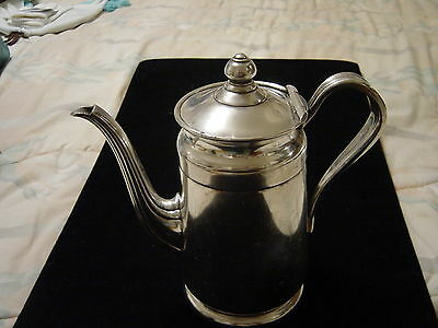 """Vintage Reed & Barton Silver Soldered 2801 4 P Lidded Coffee/Teapot Pitcher 8"""""""
