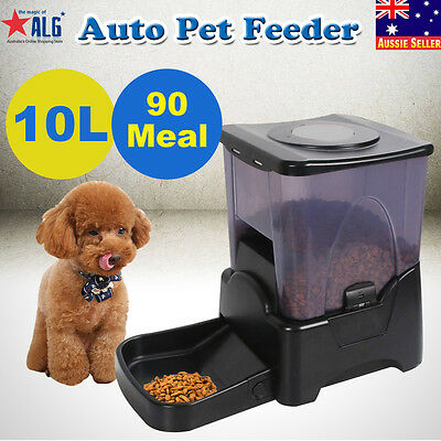 99days 10L Automatic Program Auto Digital Pet Cat Dog Feeder Food Bowl Dispenser