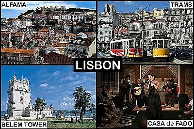 SOUVENIR FRIDGE MAGNET of LISBON PORTUGAL