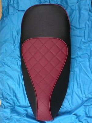 Vespa Gts 125/250/ Custom Seat Cover New Style With Quilted Rider Section