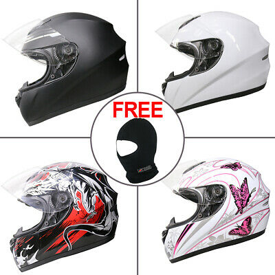 LEOPARD Solid Matt Black Motorcycle Helmet Full Face Scooter Crash Motorbike